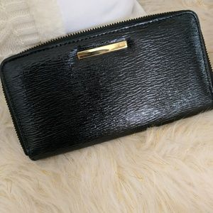 Handbags - New Wallet Black With Gold Detail